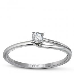 0,11 ct Diamant Solitärring in Filigraner Fassung