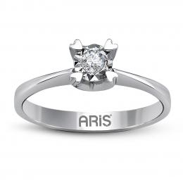 0,05 Ct Solitaire Diamant Ring