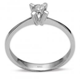 0.17 Ct. Diamant Solitaire Ring in 4-fach Krappenfassung