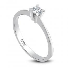 0.17 ct Diamant Solitärring (4-Fach Krappenfassung)