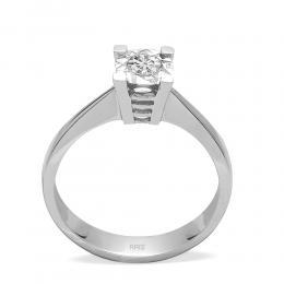 0,16 ct Diamant Solitärring (0.60 Ct Ansicht)