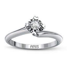 0,11 ct Diamant Miracle Solitärring (0.45 Ct Ansicht)