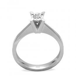 0,10 ct Diamant Solitärring (0.45 Ct Ansicht)
