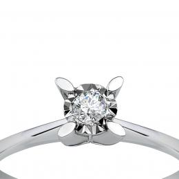 0,10 ct Diamant Miracle Solitärring (0,45 ct Ansicht)