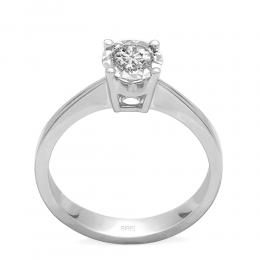 0,27 ct Diamant Miracle Solitärring (1.00 Ct Ansicht)