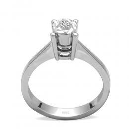0,05 ct Diamond Solitärring (0.25 Ct. Ansicht)