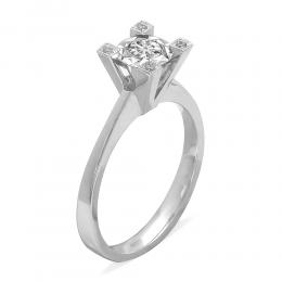 0,23 ct Diamant Miracle Solitärring (1,00 Ct Ansicht)
