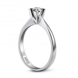 0,14 ct Diamant Solitärring  (4-Fach Krallenfassug)