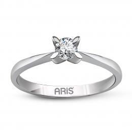 0,14 ct Diamant Solitärring mit 4-fach Krallenfassug