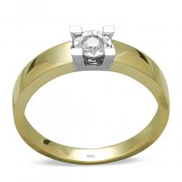 0,11 ct Miracle Solitärring (0.45 Ct. Ansicht)