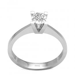 0,08 ct Miracle Solitärring (0.45 Ct. Ansicht)