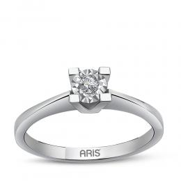 0,08 ct Diamant Miracle Solitärring (0,45 ct Ansicht)