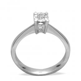 0,07 ct Miracle Solitärring (0.35 Ct. Ansicht)