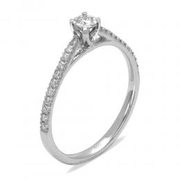 0.19 Ct. Brilliant Solitaire Ring
