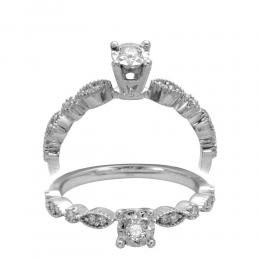 0.18 ct Diamant Miracle Solitärring