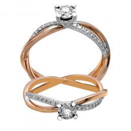 0,17 ct Diamant Miracle Verlobungsring (0,45 ct Ansicht)