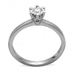 0,12 ct Diamant Solitärring (0.50 Ct. Ansicht)