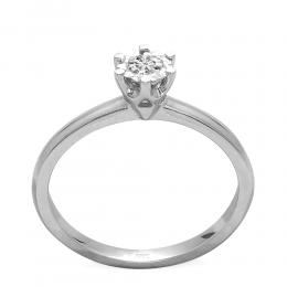 0,12 ct Diamant Miracle Solitärring (0,50 ct Ansicht)