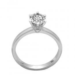 0,25 ct Diamant Miracle Solitärring (1.00 Ct Ansicht)
