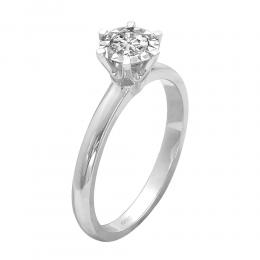 0,25 ct Diamant Miracle Solitärring (1,00 Ct Ansicht)