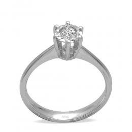 0,16 ct Diamant Miracle Solitärring (0,60 ct Ansicht)
