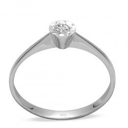 0,19 ct Miracle Solitärring (0.70 Ct Ansicht)
