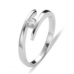 0,14 ct Diamant Solitärring