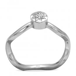 0,11 ct Diamant Miracle Solitärring (0,45 ct Ansicht)