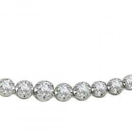 2,49 ct Diamant Tennis Halskette
