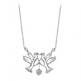 0,05 ct Diamant Vogel Kette