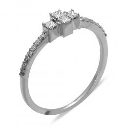 0.25 Ct Diamant Tria Ring