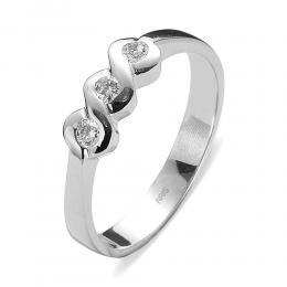 0,16 ct Diamant Tria Ring