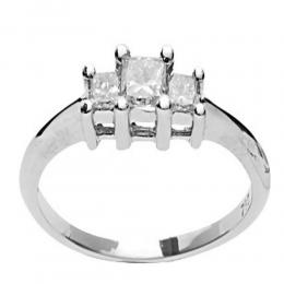 0,48 ct Princess Cut Diamant Tria Ring