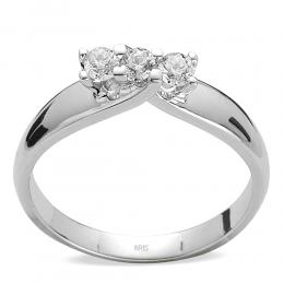 0,12 ct Diamant Tria Ring