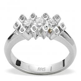 0,44 ct Diamant Tria Ring