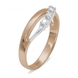 0,10 ct Diamant Tria Ring