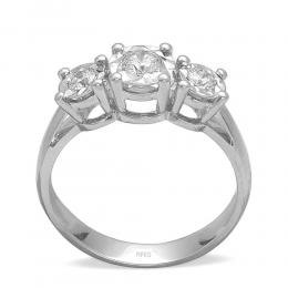 0.37 Ct.Miracle Diamant Ring Tria