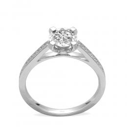 0,49 ct Diamant Miracle Solitärring (1.50 Ct Ansicht)