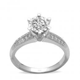 0,54 ct Miracle Solitärring (1.50 Ct Ansicht)