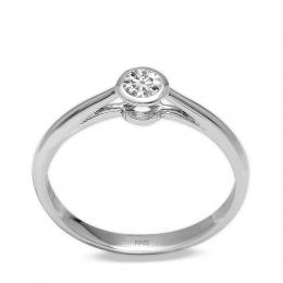 0,24 Ct Diamant Solitaire Ring